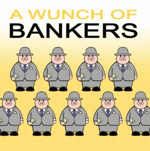 TW396 – Wunch of Bankers Funny Rude Card
